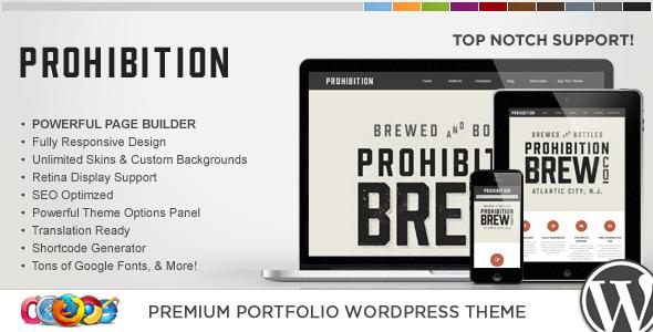 WP Prohibition Responsive Creative WordPress Theme