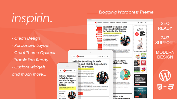 Inspirin : Professional Blogging WordPress Theme