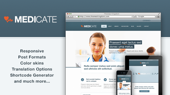 Medicate – Responsive Medical and Health Theme