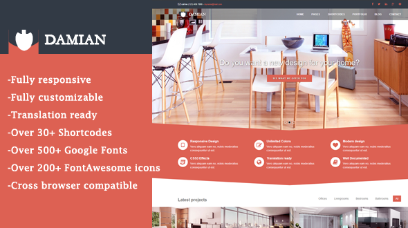 Damian – Responsive Multipurpose WordPress Theme
