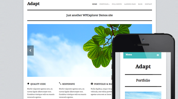 Adapt Responsive WordPress Theme