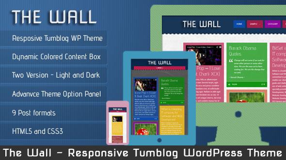 The Wall – Responsive Tumblog WordPress Theme