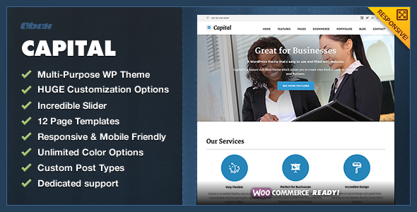 Capital – Multi-Purpose Business WordPress Theme