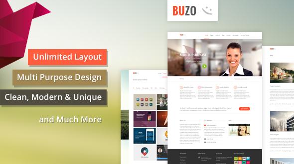Buzo – Multi Purpose, Clean & Unique WordPress Theme