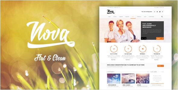 Nova – Flat & Clean, Responsive Theme
