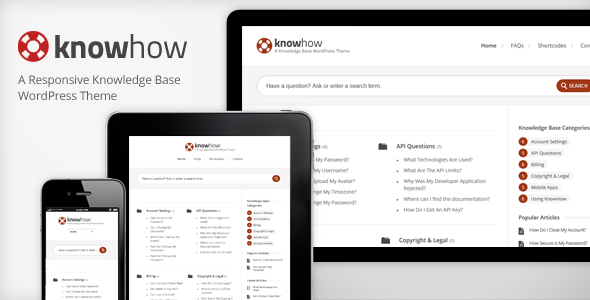 KnowHow – A WordPress Knowledge Base/Wiki Theme