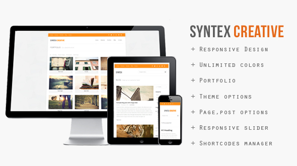 Syntex Creative – Responsive WordPress Theme