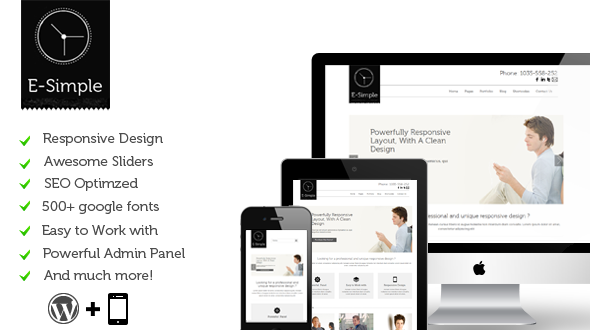 E-Simple | Responsive Multi-Purpose Theme