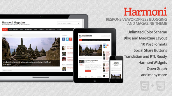 Harmoni – Responsive WordPress Blogging and Magazine Theme