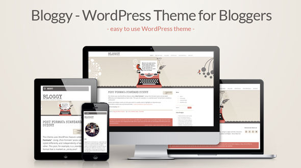 Bloggy – WordPress Theme for Bloggers