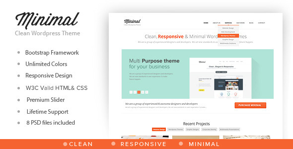Minimal – Multipurpose Minimal WordPress Theme