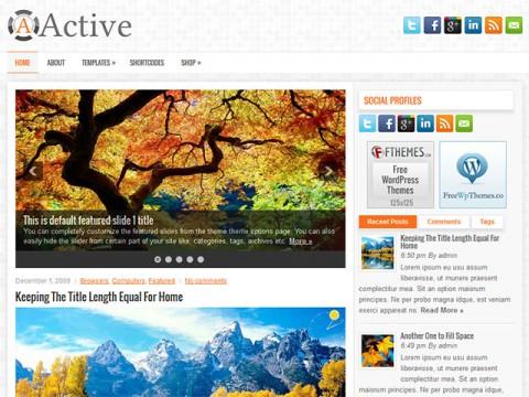 Active  WordPress Theme Free Download