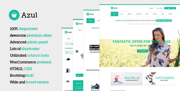 Azul – Responsive Multi-Purpose WooCommerce Theme