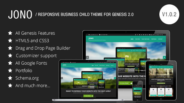 Jono – Responsive Business Child Theme for Genesis Framework