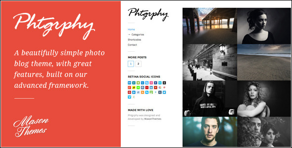 Phtgrphy – Photography Driven WordPress Theme