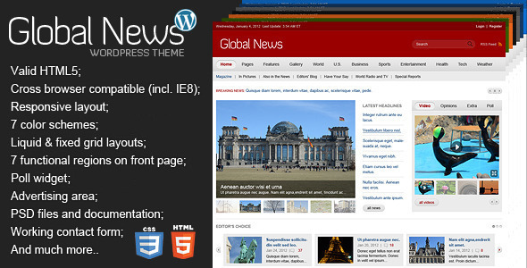 Global News Portal – Responsive WordPress Theme