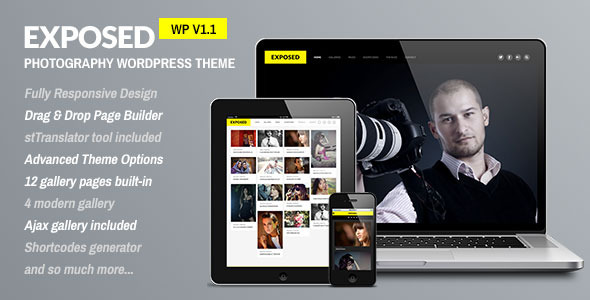 Exposed – Responsive WordPress Photography Theme