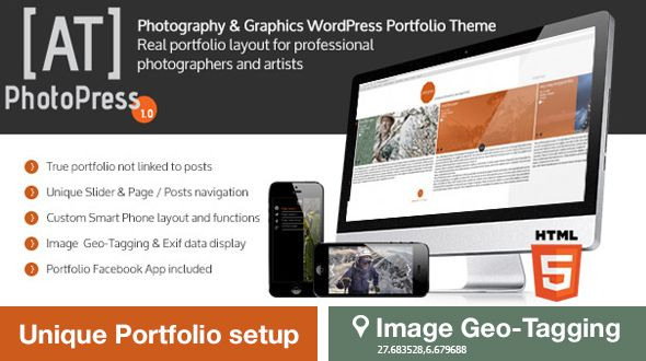 PhotoPress | Photography WordPress Portfolio Theme