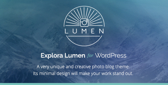 Lumen – Responsive Photography WordPress Theme