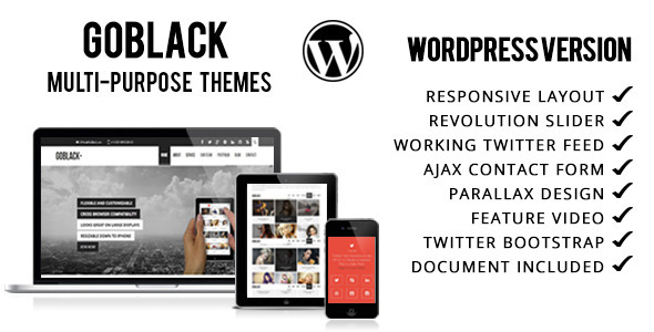 GoBlack – Onepage Parallax WordPress Theme