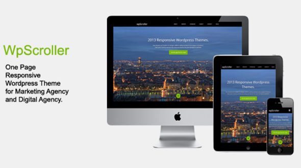 WpScroller – One Page Responsive WordPress Theme