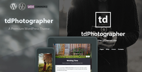 tdPhotographer – WordPress Theme