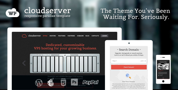 CloudServer – One Page Responsive Hosting Theme