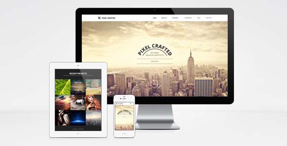 Pixel Crafted WordPress Theme