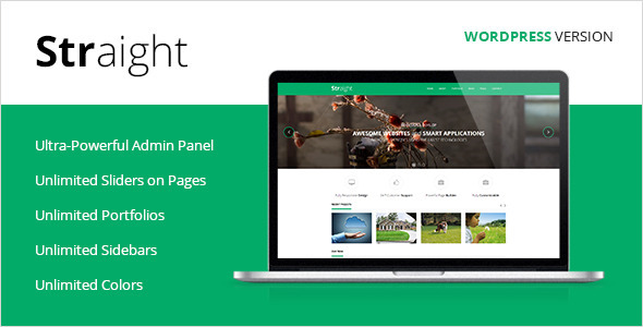 Straight – Multipurpose WordPress Theme