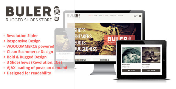 Buler – A Rugged Ecommerce / WooCommerce Theme