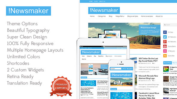 Newsmaker – Responsive Multi-Purpose Theme