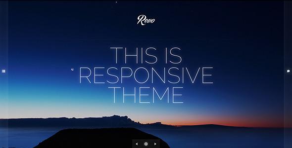 Revo – Responsive Ajaxed Minimal Portfolio