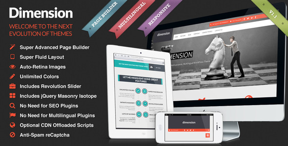 Dimension – Retina Responsive Multi-Purpose Theme