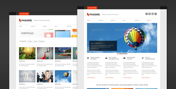 Phasire – Business and Portfolio WordPress Theme