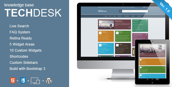 TechDesk – Responsive Knowledge Base/FAQ Theme