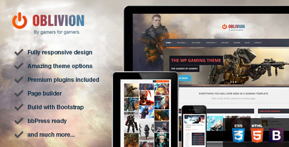 Oblivion – The Ultimate Multi-Purpose Gaming Theme