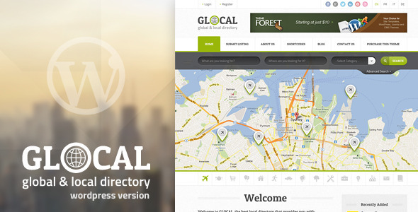 GLOCAL – Responsive WordPress Directory