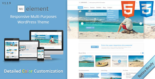NuElement – Responsive Multi-Purposes WordPress Theme