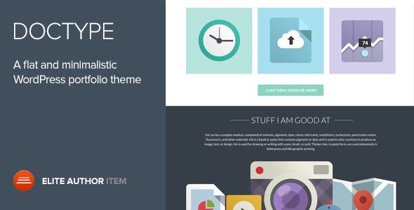 Doctype – A Flat and Minimal Portfolio Theme