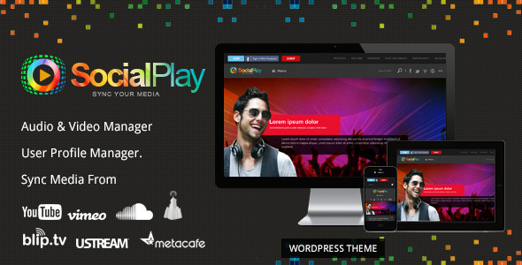 SocialPlay – Media Sharing WordPress Theme