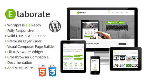 Elaborate – Responsive Multipurpose WordPress Theme