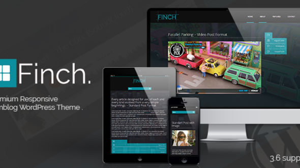 Finch – Responsive Tumblog Style Theme