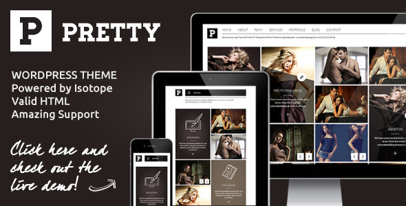 Pretty – Clean Masonry Responsive WordPress Theme