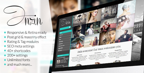 Inzin – Responsive Blog WordPress Theme