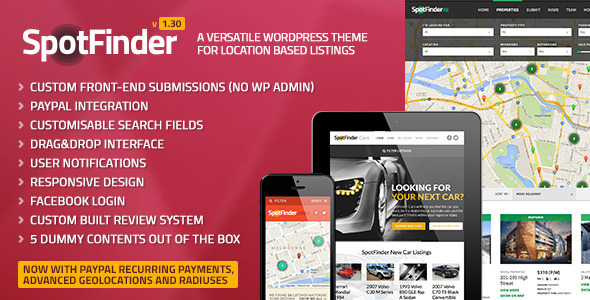 SpotFinder – Versatile Directory & Listings Theme
