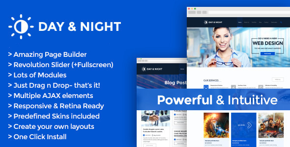Day & Night – Multipurpose Retina WordPress Theme