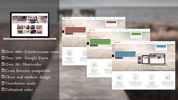 Zagga – Responsive Multipurpose WordPress Theme