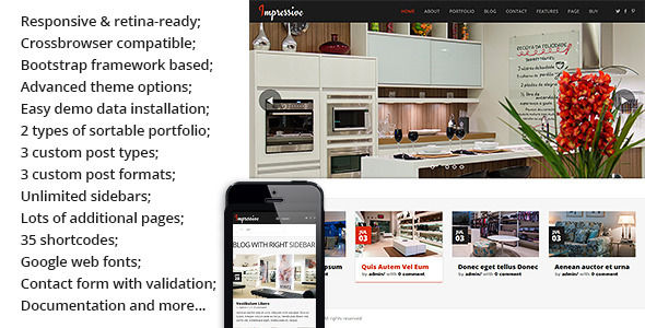 Impressive – Interior Responsive WordPress Theme