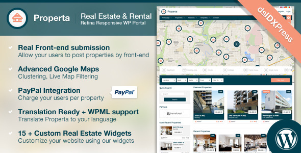 Properta – Real Estate WordPress Theme