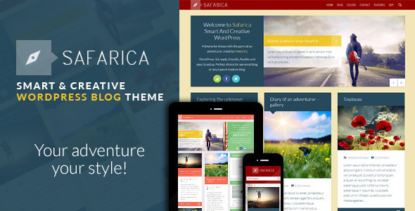 Safarica – Smart And Creative WordPress Blog Theme